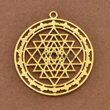 Sacred Geometry Sri Yantra Meditation Pendant DIY Necklace Bracelet Mandala Gift