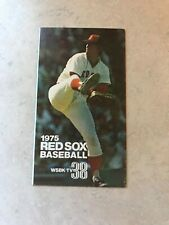 1975 BOSTON RED SOX POCKET SCHEDULE Bill Lee JIM Rice Fred Lynn