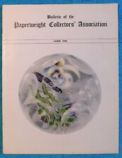 24 HOUR SALE!  Bulletin of the Paperweight Collectors' Association 1960