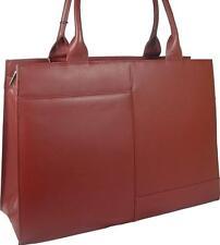 NUOVI Donna Grande Elegante Pelle Visconti Rosso Borsa Lavoro Valigetta GRATIS UK P & P
