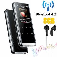 Portable 8GB Bluetooth HIFI MP3 Player FM Sound Recorder Touch Screen + Earphone