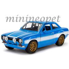 JADA 99572 FAST & FURIOUS BRIAN'S FORD ESCORT MK1 1/24 DIECAST MODEL CAR BLUE