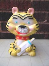 Vintage ALAN JAY – Made In USA – CLAROLYTE Tiger With Baby Bottle Squeaker Toy