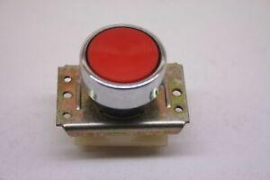 Taster Schalter Druckschalter Rot Chrom Drucktaster DDR VEB NEU Tastereinheit