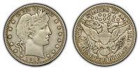 1916-D 25c Silver Barber Quarter - XF+ Coin - SKU-Y3239