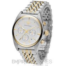 *NEW* MENS EMPORIO ARMANI GOLD CHRONOGRAPH WATCH - AR0396 - RRP £379