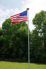 SUPER HEAVY 12 Gauge TITAN 20S SILVER TELESCOPING ALUMINUM FLAGPOLE 20' USA MADE