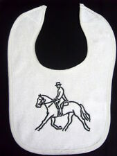 DRESSAGE NO (2)  - HORSE BIB - AVAILABLE IN WHITE PINK  & BLUE BIBS- BRAND NEW