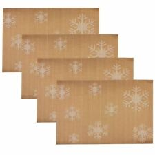 Set of 4 Woven Dining PVC Placemats (Brown)