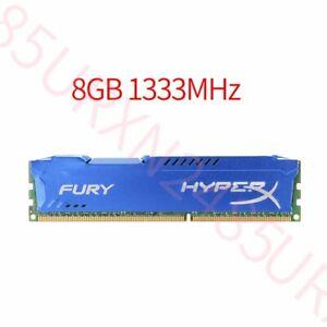 8GB 4GB 1333MHz DDR3 PC3-10600 240PIN Intel DIMM Desktop RAM For HyperX FURY UK