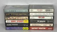 Lot Of 12 80s And 90s Cassettes Bruce Cher Bolton Benatar Celine Joel Elton