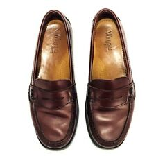 Bass Weejuns Womens Shoes 7.5 W Katherine II Red Burgundy Leather Penny Loafers