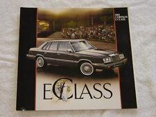 NOS 1983 Chrysler E Class Color Car Automobile Brochure MINT Condition