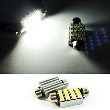 2x No Error 16 SMD LED 6418 bulb White License Plate Light For Mercedes-Benz AMG