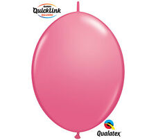 """50ct. ROSE PINK Quicklink 12"""" Latex Helium Linking Balloons MAKE ARCHES ARBORS"""