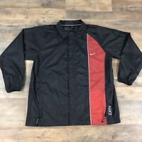 Vintage 90s Nike Athletic Windbreaker Jacket Black Men's XL Retro Spell Out Logo