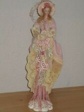 Popular Creations Beige Rose Lace Porcelain Hand and Face Tassel Used Good