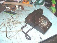 VTG 1971 TELEPHONE CHOCOLATE BROWN DESK ROTARY PHONE PROP DECOR