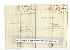3 letters 1805 SALEM MA.GIRLS SCHOOL TALK LAURA BUFFINGTON 2B WIFE OF GIDEON LEE