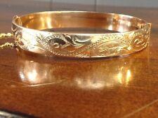 Victorian Estate 1/10th 9CT Gold Filled Bangle Bracelet 9.3MM