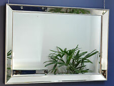 Large Silver Mirror on Mirror 102cm x 72cm