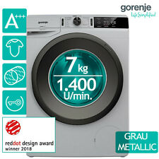 Waschmaschine A+++ Gorenje WE74S3PA W 1.400 U/min. LED Display grau metallic