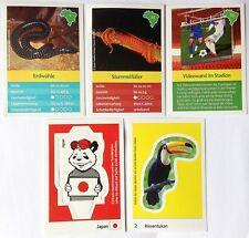 EDEKA - Entdecke Brasilien WWF WM 14 - biete 5 Sammel Karten Sticker an, NEU TOP