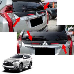 For Mitsubishi Montero Pajero Sport 16 - 2017 Gap Rear Middle Spoiler Black