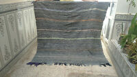 Vintage Moroccan Azilal Rug Antique Berber Handmade Wool Carpet Beni Ourain rug