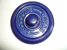 La Cocotte Staub  Deckel  für mini Topf  10 cm blau