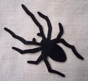 Felt SPIDERS - HALLOWEEN die cuts Gothic Bunting Decorations Appliqués - VARIOUS