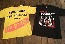 Sex Pistols & Ramones mens S small shirts Punk Rock skateboarding the clash Wow