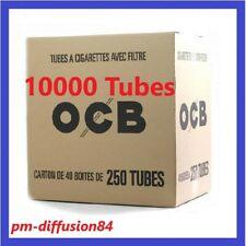 10000  TUBES à CIGARETTES - OCB (40 Boîtes de 250) Avec Filtre en mousse acétate