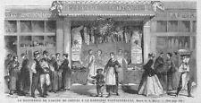 """PARIS """" LA PREMIERE BOUCHERIE CHEVALINE DE FRANCE """" GRAVURE ENGRAVING 1866"""