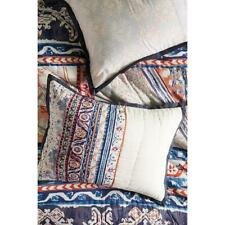 Anthropologie Risa Quilted King Pillow Sham Block Printed NEW