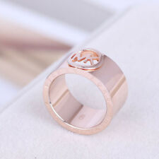 Michael Kors Rose Gold Tone Classic Logo Ring Size 6