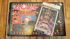 VTG 1979 Atomic Arcade Portable Pinball Machine Electronic Toy TOMY Original Box