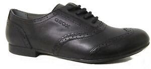 Geox Plie Leather Girls School Shoes