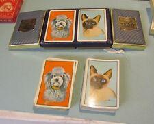 Vintage Piatnik Kingsbridge Siamese Cat Poodle Dog Playing Cards Double Deck
