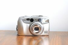 PENTAX Espio 105S  35mm film Camera  - Pentax Zoom Lens   w/ Leather Case  * Exc