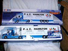 Corgi CC12825 Scania T Fridge Trailer - P&C HAMILTON TRANSPORT - Girvan