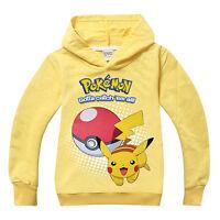 Boys Girls Toddler Kids Pokemon Hooded Sweatshirt Mickey Hoodies Coat Jumper Top