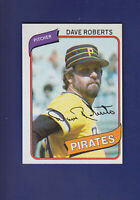 Dave Roberts 1980 TOPPS Baseball #212 (NM) Pittsburgh Pirates