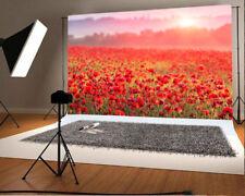 Outdoor Photography Scenery Backdrop Flower Sea Background Studio 7x5 Vinyl Prop