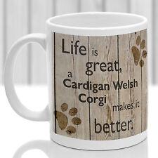 Welsh Corgi Cardigan cane Tazza, WELSH CORGI Regalo, Ideale Regalo per Amante dei Cani
