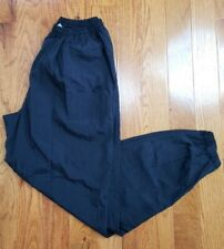 Nike Black Windbreaker Track Pants Unlined White tag size Large Vtg 90's