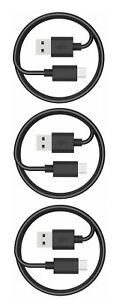 3Pack Fast Charging Cord Type C Cable USB-C For Samsung Galaxy A10E A20 A50 BLK