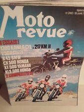 moto revue n2410 19/4/79 1300 kawa 6 v 50guzzi r45 bmw cx honda 500 xt yam  xls