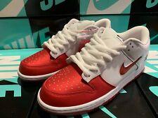 Nike SB Dunk Low Supreme Jewel Swoosh Red CK3480 600 UK 10.5 US 11.5 EU 45.5