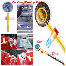 Car Revolving Care Washing Brush Sponge Cleaning Car Wash Brush Extendable Pole